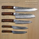 "Нож ""шеф"" 210мм NAGOMI, дизайн ""Hammer-HIT"" (красная ручка)"