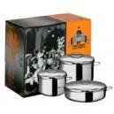 """Набор посуды """"Трио-Классик"""" из нержавеющей стали с тройным дном (441500)"""